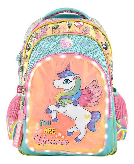 Mochila Footy Unicornio Espalda C/ Led 18