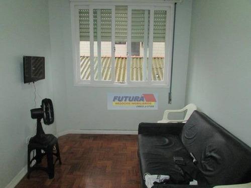 Apartamento Com 1 Dormitório À Venda, 49 M² Por R$ 180.000,00 - Boa Vista - São Vicente/sp - Ap2344