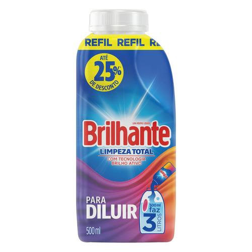 Sabão concentrado Brilhante Limpeza Total frasco 500ml