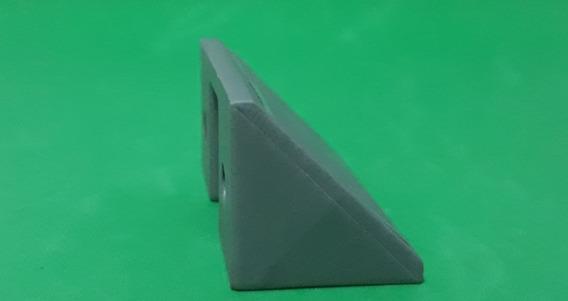 Suporte Conector Plastico 2 Furos Cinza Kit 50 Pçs (254)