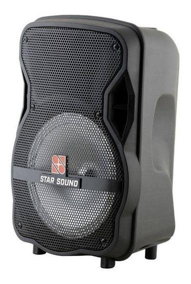 Caixa Star Sound 8 Ss-80 Ativa Usb/fm/bt/bateria Lítio
