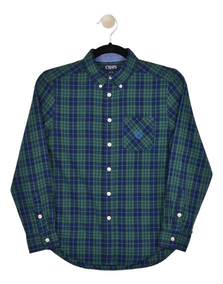 Camisa Classic Fit Chaps Verde 333624387-2p8f Niño