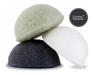 Esponja Konjac: Natural, Té Verde, Carbón Activado.