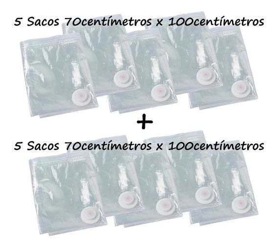 Saco À Vácuo Kit 10 Sacos 70x100cm - Super Promoção