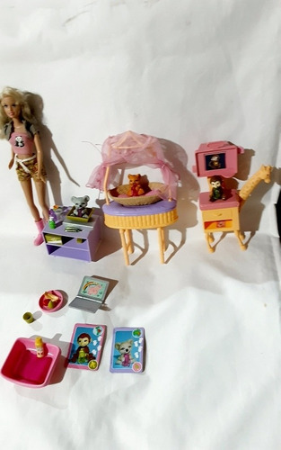 Boneca Barbie Clinica Veterinaria Zootecnista  Antiga