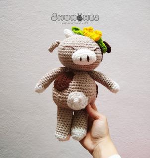Vaca Crochet Shunches