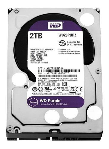 Hd 2tb Purple 2 Tera Western Intelbras Cftv Dvr Wd20purx Tf