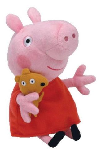 Imagem 1 de 3 de Pelúcia 20 Cm  Pequena Ty  Peppa Pig  Peppa Pig  Dtc