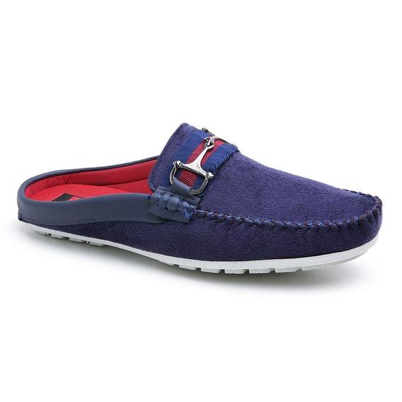 Mule Babuche Sapatenis Masculino Camurça Confort Shoes Preto