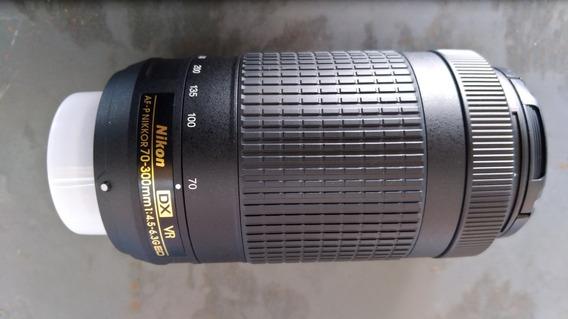 Lente Nikon 70-300mm F/4.5-6.3g Ed Af-p Vr Dx Pronta-entrega