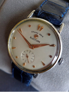 Reloj Election Grand Prix Decada De 1950 Impecable Mecanico