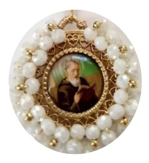 Medallas San Benito Con Cristal O Perla