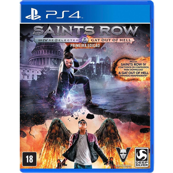 Saints Row Re-elected & Gat Out Of Hell (mídia Física) Ps4