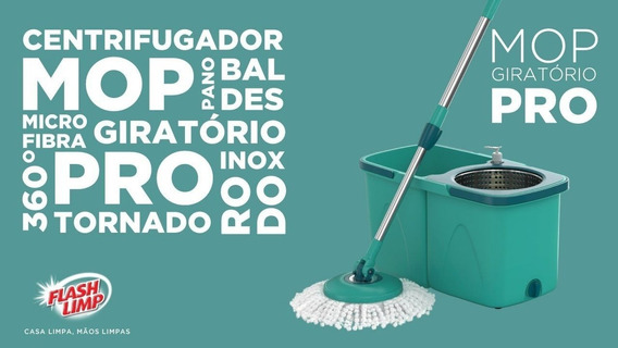 Mop Giratorio Pro Flash Limp Limpeza Pesada