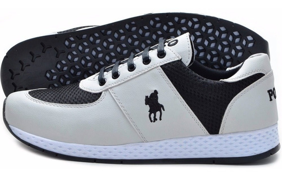 Tênis Masculino Polo Plus Jogging Original Lançamento Sapato