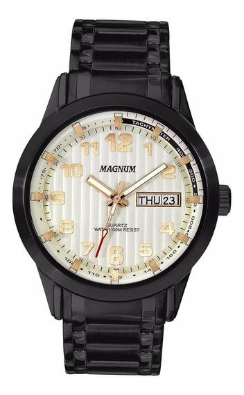 Relógio Magnum Masculino Ma32381s Preto Analogico Oferta