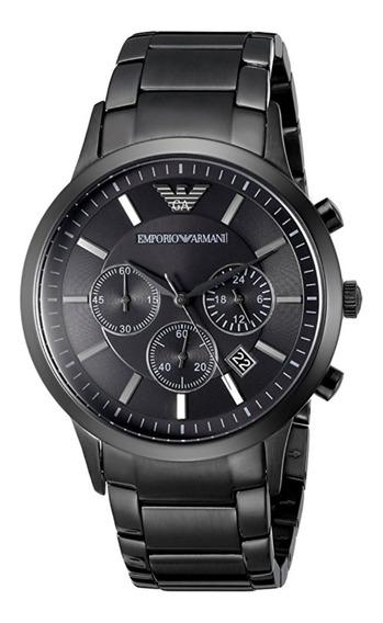Relógio Gs1823 Emporio Armani Ar2453 Preto Social