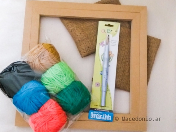 Kit Bordado Chino Punch Needle Magico