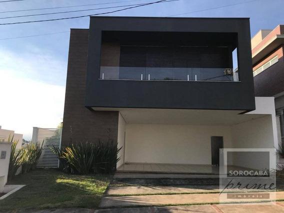 Sobrado Com 3 Dormitórios À Venda, 371 M² Por R$ 1.850.000,00 - Condomínio Residencial Giverny - Sorocaba/sp - So0110