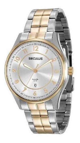 Relógio Seculus Masculino 20573gpsvba1