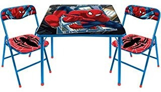 Marvel Spiderman 2piece Silla Plegable De Mesa Envío Gratis