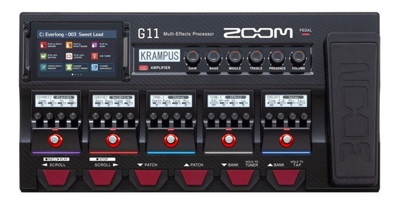 Pedaleira Multiefeitos Zoom G11 Para Guitarra Preto - Oferta