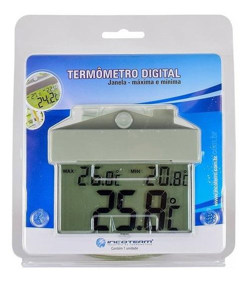 Termômetro Ambiente Interno Com Ventosa Incoterm