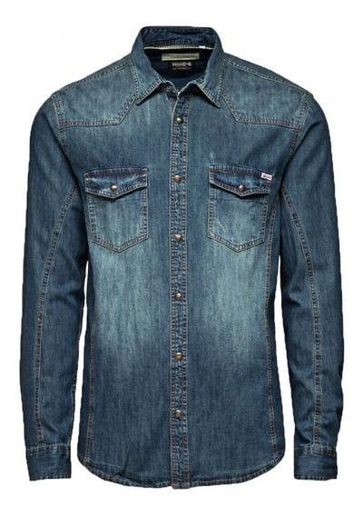 Jack & Jones Vintage Western Denim Shirt Talla Xl Reducida