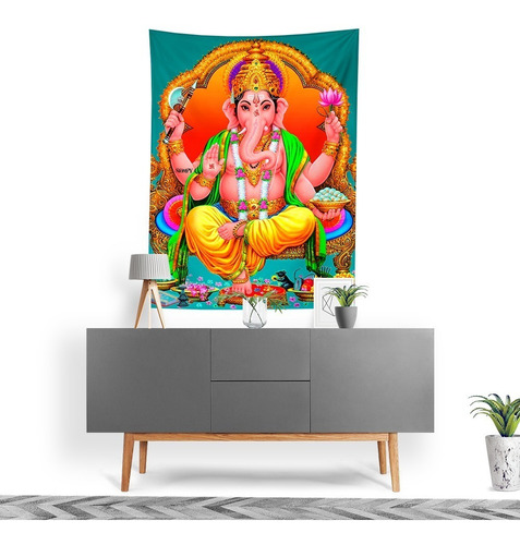 Imagem 1 de 3 de Tecido Decorativo Decoração Tactel Interto Externo Ganesha