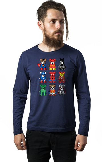 Camiseta Manga Longa Super Herois Cod8078