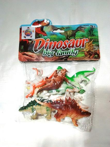 Maqueta De Dinosaurios 8 Pzas.