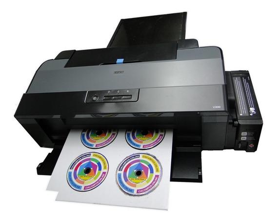 Impressora Epson L1300 Adaptada Bandeja 6 Cd + Manopla Papel