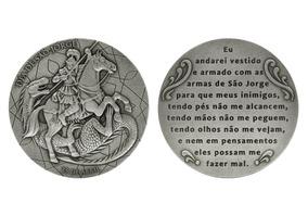 Medalha Comemorativa Homenagem A São Jorge Prata 900 64g