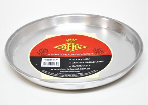 Imagen 1 de 5 de Pizzera Molde Pizza N 30 Aluminio Real