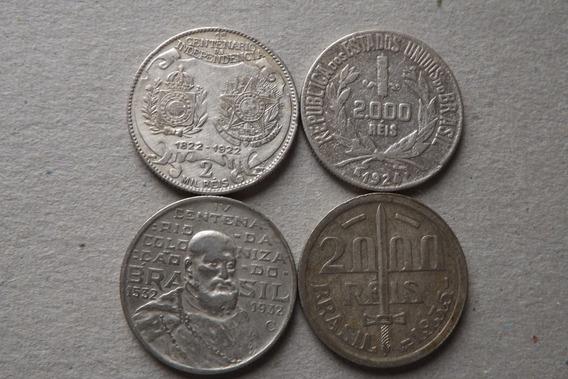 Prata- 2000 Reis 1922, 1924, 1932 E 1935