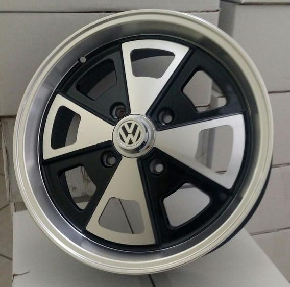 Roda Fusca Vw Porsche Aro 15 4x130 R84 + Bicos