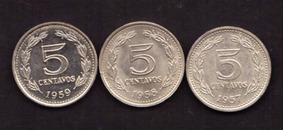 Argentina 5 Centavos 1957-1959 S/comp ( M 1) Imperdible Vea