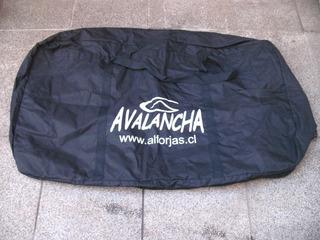 Bolso Alforja Porta Bicicleta Tela P/viajes Avión Avalancha.