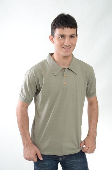 Camiseta Polo Masculina Manga Curta