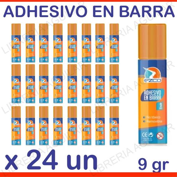 24 Adhesivos En Barra Ezco Pegamento Escolar Tipo Uhu Stick