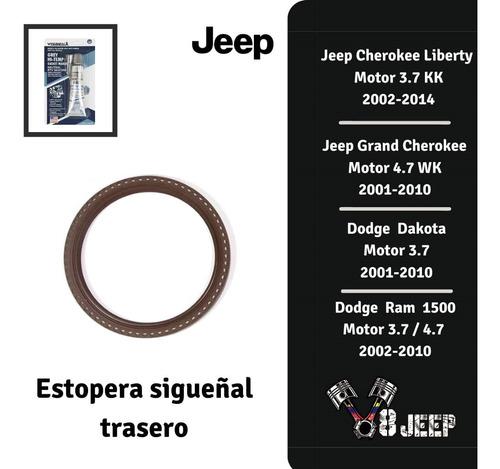 Estopera Cigueñal Trasera Jeep  Grand Cherokee 4.7 3.7