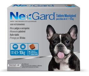 Antipulgas Nexgard Cães 4,1 A 10kg 1 Tablete 03/2020