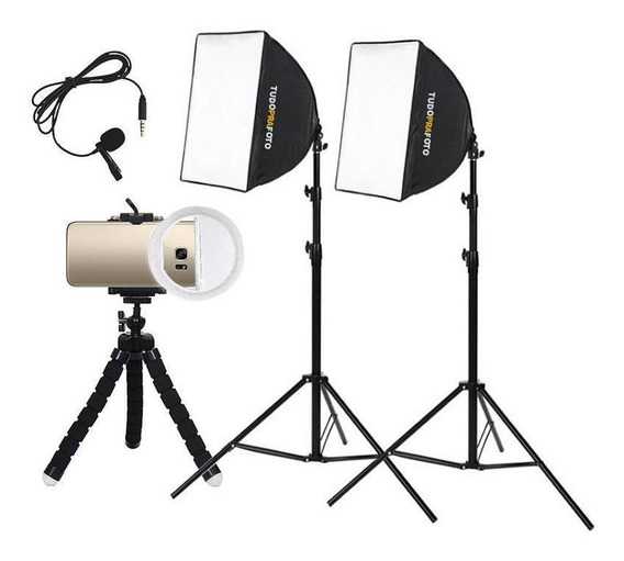 Estúdio Youtuber Para Celular Softbox Mini Ring Light - 110v