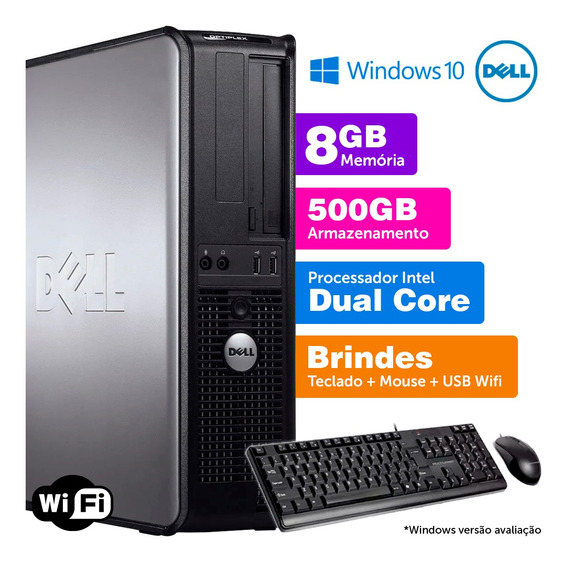 Cpu Barato Dell Optiplex Int Dcore 8gb Ddr3 500gb Brinde