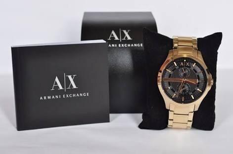 Relógio A Exchange Dourado Preto Ax2122