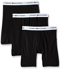 Tommy Hilfiger Hombre De 3 Paquetes De Algodón Boxer Breve,