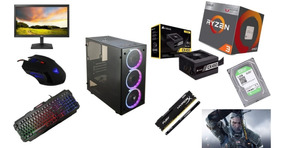 Pc Cpu Gamer Ryzen 3 2200g B350 8gb 1tb Monitor Mouse Teclad
