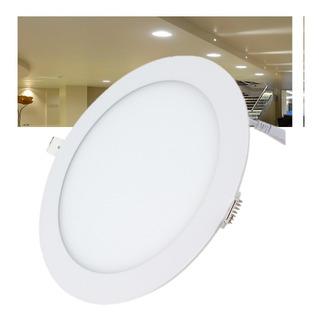 Spot Led 24w Panel Redondo Slim Para Plafon Empotrado Focos Luces Casas Oficinas Negocios Con 12 Meses Garantia