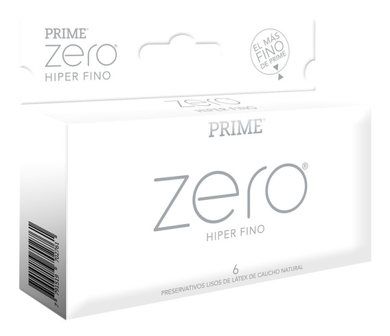 Preservativos Prime Zero Hiper Fino X6 Unidades El Mas Fino