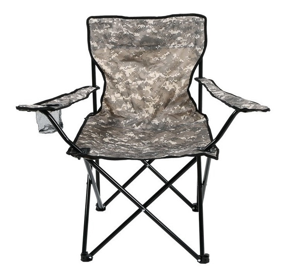 Cadeira Araguaia Pesca Camping Camuflado Dobravel C Sacola